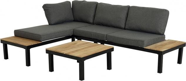 Ecklounge Xanten Aluminium Akazie Gartenmöbel Outdoor Sitzecke