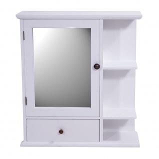 Regal Bismo Spiegelschrank Spiegel Wandregal Küchenregal Gewürzregal Landhaus weiß - Vorschau 2