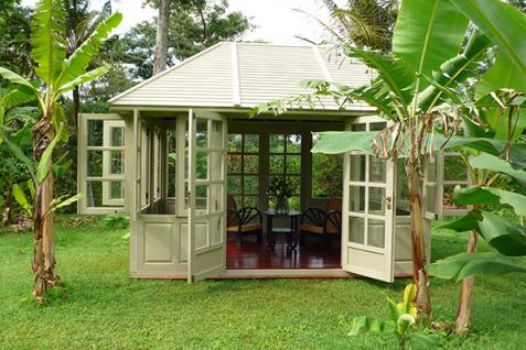 Gartenhaus Fiete House Gazebo Mahagoni Holzhaus Geräteschuppen Blockhaus mint