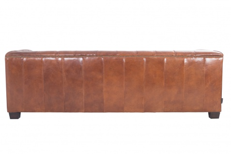 Chesterfield Glasgow - 3-Sitzer Sofa - Leder Vintage Cigar - Vorschau 5