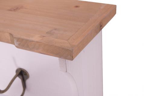 Garderobe Calan Landhaus Stil 3 Kleiderhaken Holz Vintage Look Regal weiß - Vorschau 5