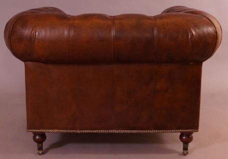 Clubsessel Chesterfield Vintage-Leder - Vorschau 3