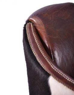 Clubsofa Dallas 2-Sitzer Vintage-Leder Kuhfell - Vorschau 4