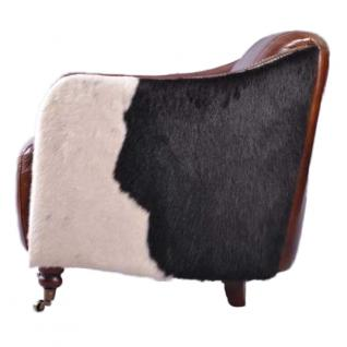 Clubsofa Dallas 2-Sitzer Vintage-Leder Kuhfell - Vorschau 2