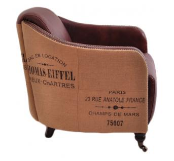 Clubsessel Dallas Eiffel Vintage-Leder - Vorschau 2
