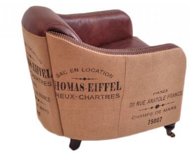 Clubsessel Dallas Eiffel Vintage-Leder - Vorschau 4