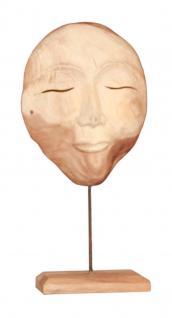"""Wohndekoration Skulptur """"Maske"""" aus Teakholz L - Vorschau"""