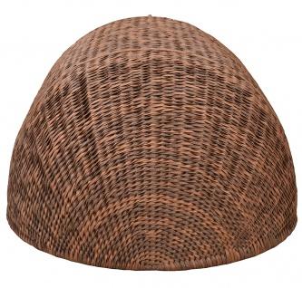 Strandmuschel Caramel mit Sitzbank inkl. Sitzpolster in cremeweiß - Vorschau 5