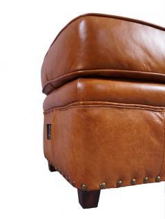 Fußhocker Derry Vintage-Leder Columbia Brown - Vorschau 3