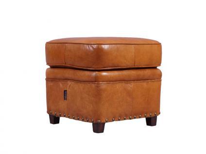 Fußhocker Derry Vintage-Leder Columbia Brown - Vorschau 5
