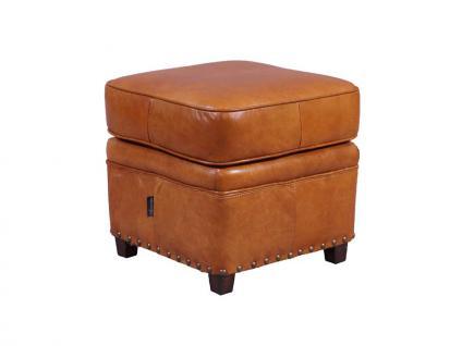Fußhocker Derry Vintage-Leder Columbia Brown - Vorschau 1