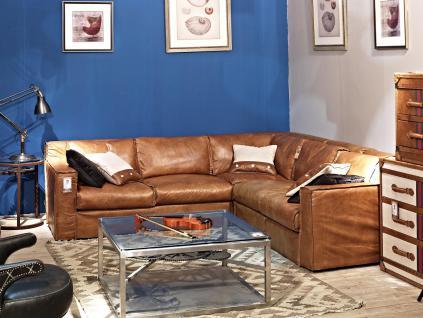 Ecksofa Redhill 5-Sitzer Vintage Leder