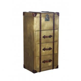 Truhe Goldcase Kommode mit drei Schubladen