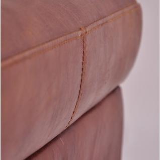Fußhocker Birmingham mit Stauraum Vintage-Leder - Vorschau 3