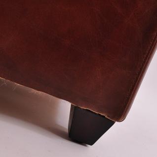 Fußhocker Birmingham mit Stauraum Vintage-Leder - Vorschau 5
