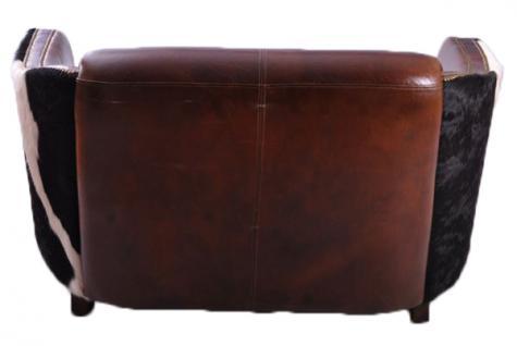 Clubsofa Dallas 2-Sitzer Vintage-Leder Kuhfell - Vorschau 3