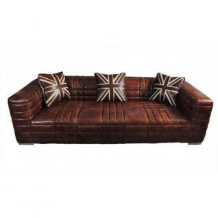 Designsofa Birsay 3-Sitzer Vintage-Leder - Vorschau 1