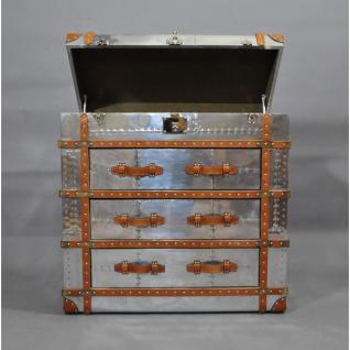 Schranktruhe TomCat Big Aluminium Vintage Leder - Vorschau 1