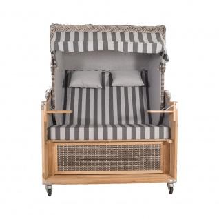 Strandkorb Kampen 2, 5-Sitzer White Oak Set 1 inkl. Industrierollen und Hydraulikdämpfer - Vorschau 2
