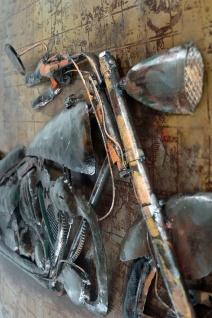 Handgefertigtes Metallbild Motorcycle 66 ca. 115x75 cm Kunst Bild 3D-Optik Wandbild - Vorschau 2