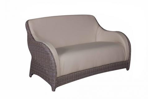 Sofa Marino 2-Sitzer Cubu Croko yachtbezug-Bezug Polyrattan Gartensofa Couch