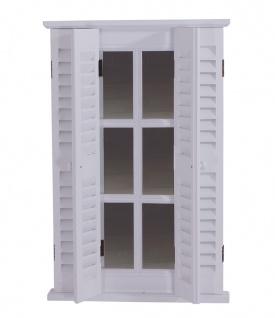 Spiegel Karlum weiß Landhaus Hängespiegel Wandspiegel Deko Flur Diele Fensterrahmen - Vorschau 2