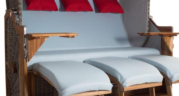 Strandkorb Kampen 3-Sitzer White Oak Set 1 inkl. Industrierollen und Hydraulikdämpfer - Vorschau 4