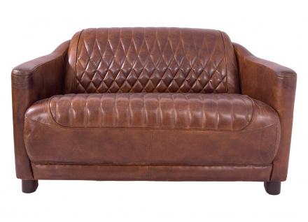Clubsofa Rocket Delvin 2-Sitzer Leder Vintage Cigar