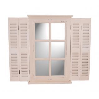 Spiegel Karlum cremeweiß Landhaus Hängespiegel Wandspiegel Deko Flur Diele Fensterrahmen - Vorschau 1