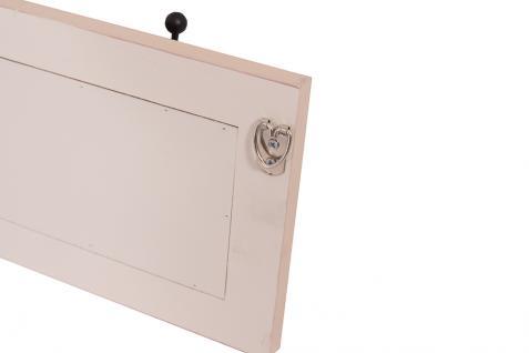 Garderobe Provence Landhaus Stil 4 Kleiderhaken Holz Vintage Look creme weiß - Vorschau 4