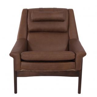 Lehnsessel Seacroft Chocolate Brown Ledersessel Echtleder Loungesessel Leder Sessel - Vorschau 2