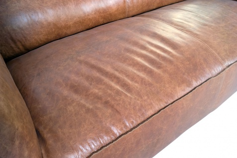 Clubsofa Longford 2, 5-Sitzer Vintage-Leder Chrom - Vorschau 5