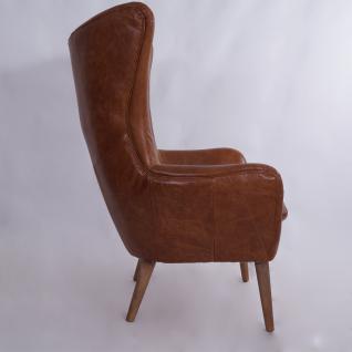 Ohrensessel Exeter Vintage Leder Montaigne Brown - Vorschau 3