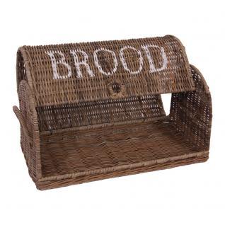 Brotbox Brood klein Rattankorb Brotkorb Aufbewahrung Naturrattan - Vorschau 3