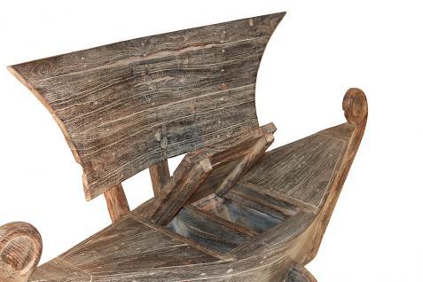 Teakholz Bootssessel White Wash 100 cm Gartensessel Gartenmöbel Sessel - Vorschau 2