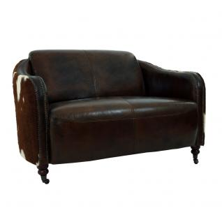 Clubsofa Flair 2-Sitzer Vintage Leder Kuhfell