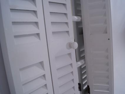 Spiegel Karlum weiß Landhaus Hängespiegel Wandspiegel Deko Flur Diele Fensterrahmen - Vorschau 5