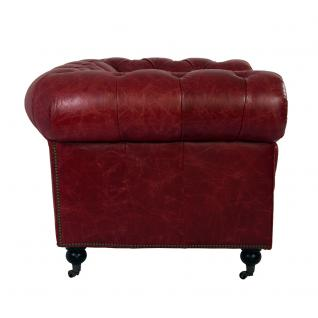 Clubsessel Chesterfield Vintage Leder Royal Rouge Sessel Designsessel Ledersessel - Vorschau 3