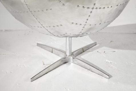 Design Schalensessel Saltum Vintage Dark Leder Aluminium - Vorschau 5