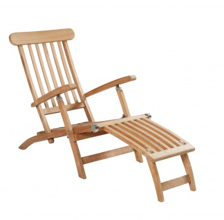 Teakholz Deckchair Kampen Sonnenliege Gartenliege Liegestuhl Teak Teakstuhl - Vorschau 1