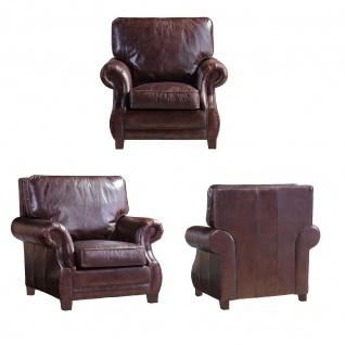 Ledergarnitur Wexford 3-Sitzer, 2-Sitzer und Sessel 3+2+1 - Vorschau 2
