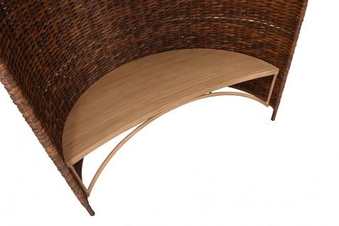 Strandmuschel Caramel mit Sitzbank inkl. Sitzpolster in cremeweiß - Vorschau 3