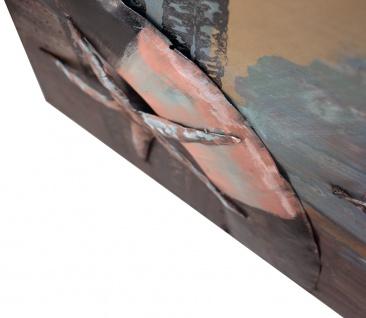 Handgefertigtes Metallbild Segelboot ca. 100x100 cm Kunst Bild 3D-Optik Wandbild - Vorschau 3