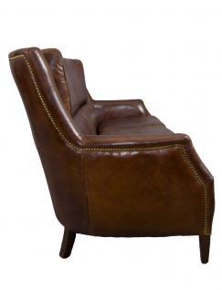 Clubsofa Lewes 3-Sitzer Vintage Cigar Leder - Vorschau 3
