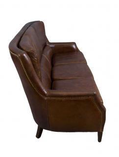 Clubsofa Lewes 3-Sitzer Vintage Cigar Leder - Vorschau 4