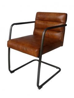 Freischwinger Sessel Murray Vintage Leder Stahlrohr