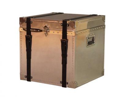 Truhe Selby Vintage Aluminium Vintage Leder