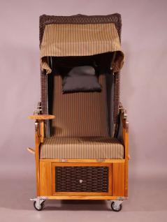 Strandkorb Kampen Mocca Single 1-Sitzer - Vorschau 2