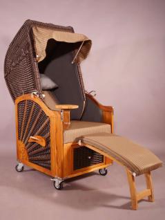Strandkorb Kampen Mocca Single 1-Sitzer - Vorschau 1