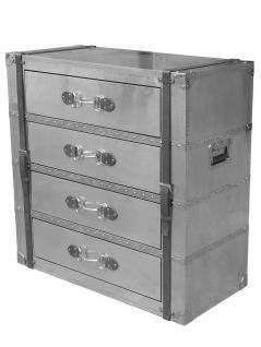 Kommode Spilsby Vintage Aluminium Edelstahl